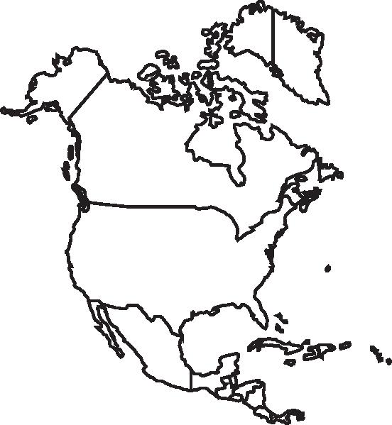 North America Map Clip Art At Clker Com -North America Map Clip Art At Clker Com Vector Clip Art Online-15