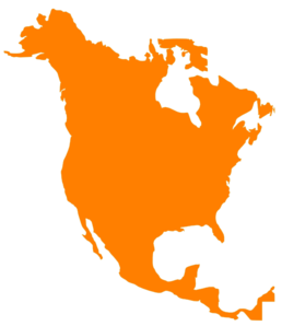 North America Map Clip Art