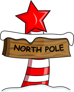 North pole sign variety set o