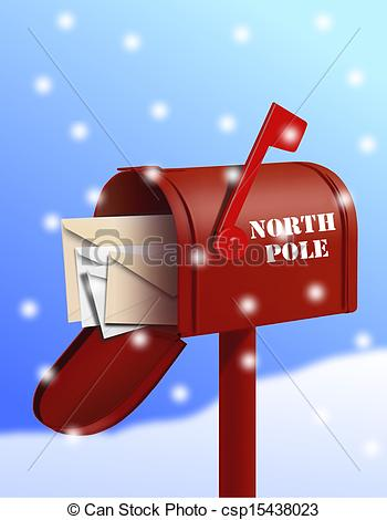 ... North pole mail box - North Pole Clip Art