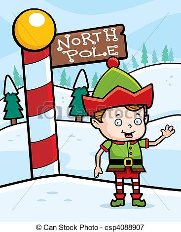 North Pole Reindeer Clipartby keeweegirl0/4; North Pole Elf - A happy cartoon Christmas elf in the North.