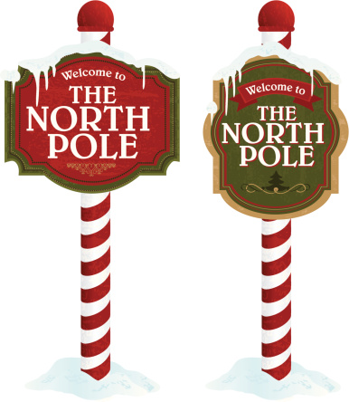 North pole sign variety set o - North Pole Clip Art