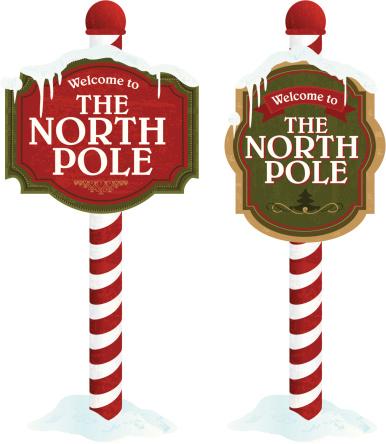 North pole sign variety set on .