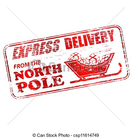 ... North Pole Stamp - Express delivery from the North Pole.