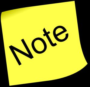 Note Clip Art
