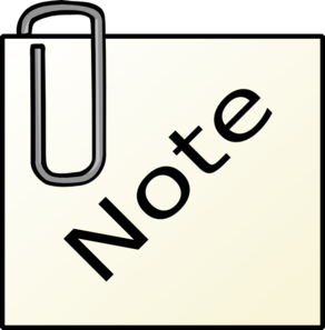 Paperclip Note Clip Art