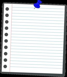 Notebook Paper Clip Art