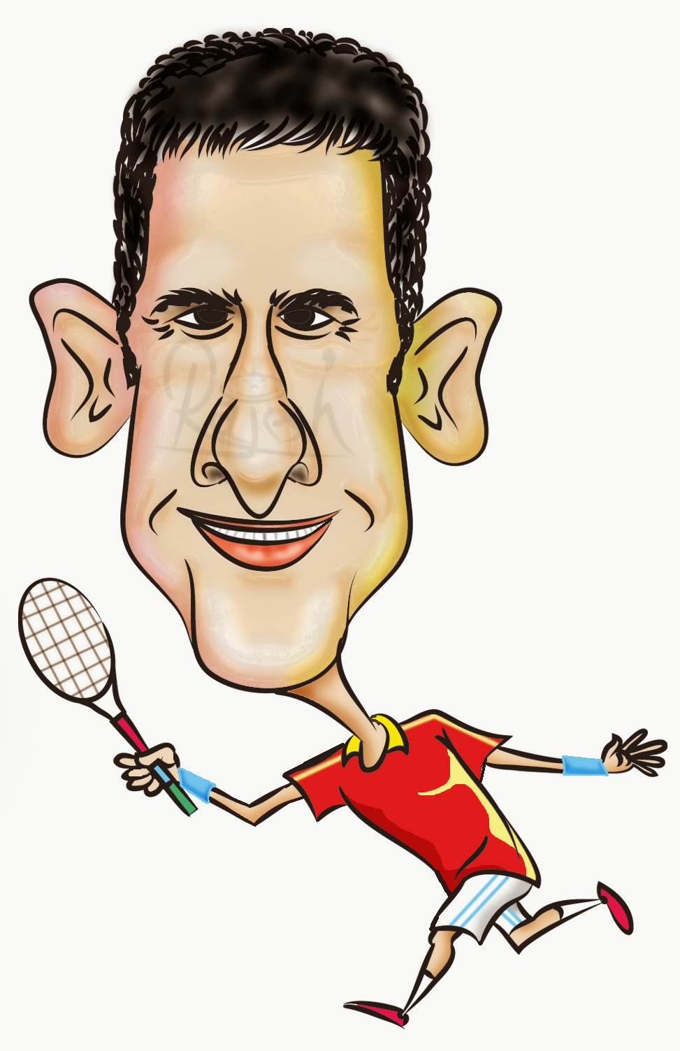 Novak Djokovic cartoon