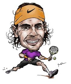 Rafael Nadal By Perics Sports Cartoon TOONPOOL - 420x500 - jpeg