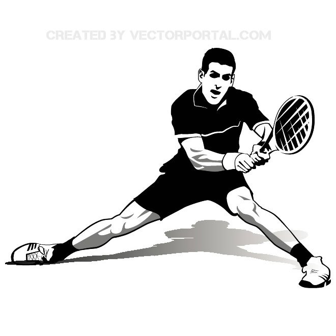 Tennis Player Novak Djokovic Free Vector-Tennis Player Novak Djokovic Free Vector-3