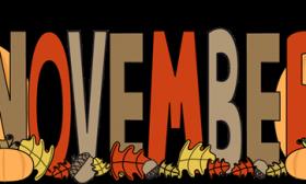 November Banner Clipart #1