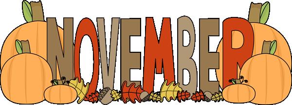November Calendar Clip Art ..