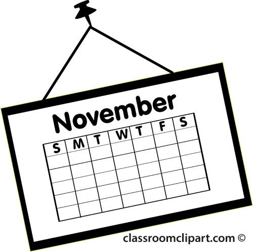 November Calendar Clipart Free Calendar Clipart Clip
