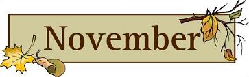 November sign and text