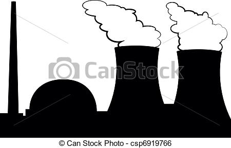 ... nuclear power plant - illustration of a nuclear power plant