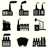 Nuclear Power Plant Silhouette u0026middot; Factory, nuclear power plant and energy icons