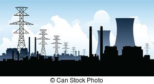 ... Nuclear Power Station - A - Power Plant Clipart