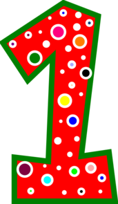 Number 1 Pink And Green Polkadot Clip Ar-Number 1 Pink And Green Polkadot Clip Art-6