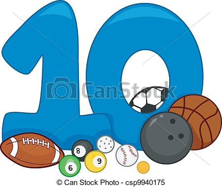 ... Number 10 - Illustration Featuring t-... Number 10 - Illustration Featuring the Number 10-12