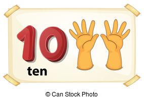 ... Number 10 - Illustration of a flashc-... Number 10 - Illustration of a flashcard number 10-10