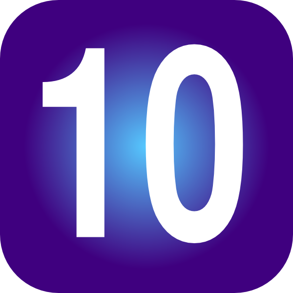 number 10 clipart