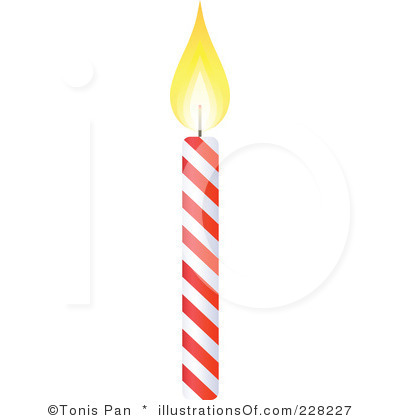 number one candle clipart