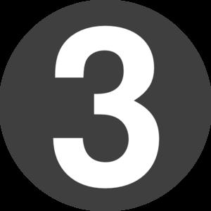 Number 3 Design Clip Art