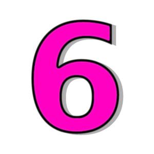 Number 6 Black Clipart. 6-Number 6 Black Clipart. 6-4