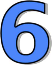 Number 6 Blue Signs Symbol Alphabets Num-Number 6 Blue Signs Symbol Alphabets Numbers Outlined Numbers Blue-12