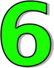 Number 6 Green Signs Symbol Alphabets Nu-Number 6 Green Signs Symbol Alphabets Numbers Outlined Numbers-2