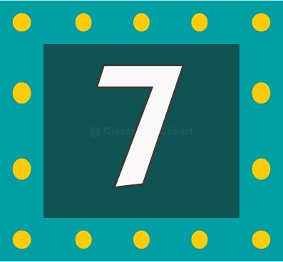 Number 7 Clipart Numbers Number 7c-Number 7 Clipart Numbers Number 7c-11