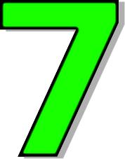 Number 7 Green Signs Symbol Alphabets Nu-Number 7 Green Signs Symbol Alphabets Numbers Outlined Numbers-12