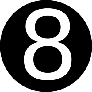 Number 8 Clipart Black And White Black Roundedwith Number 8 C