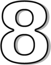 Number 8 Outline Http Www Wpclipart Com -Number 8 Outline Http Www Wpclipart Com Signs Symbol Alphabets-11