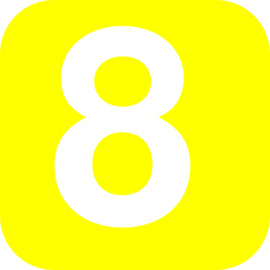 Number 8 Yellow Clip Art