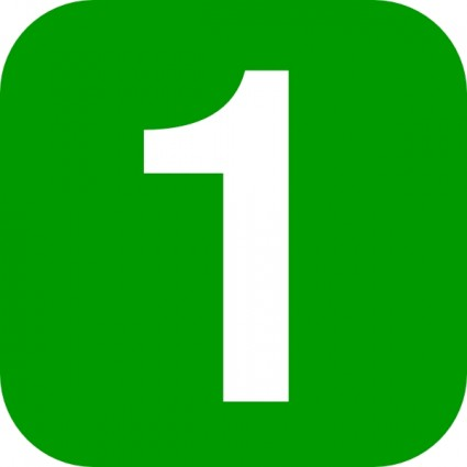 Number In Green Rounded Squar - Number Clipart