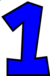 Number One (bright Blue) Clip Art