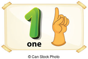 ... Number One - Illustration of a flash-... Number One - Illustration of a flashcard number one-11