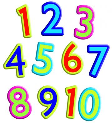 Numbers 1 clipart