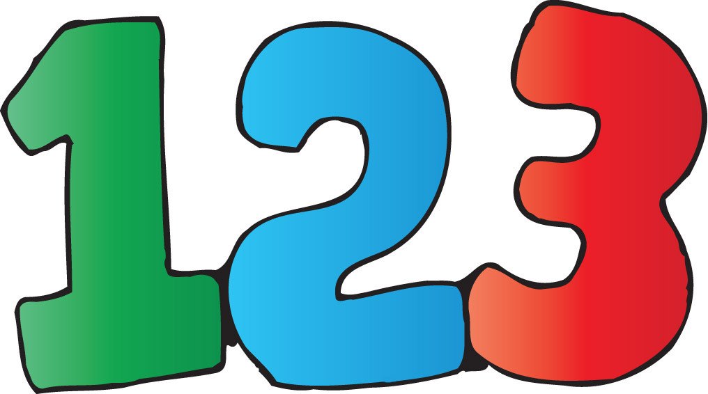 Numbers 123 Clipart