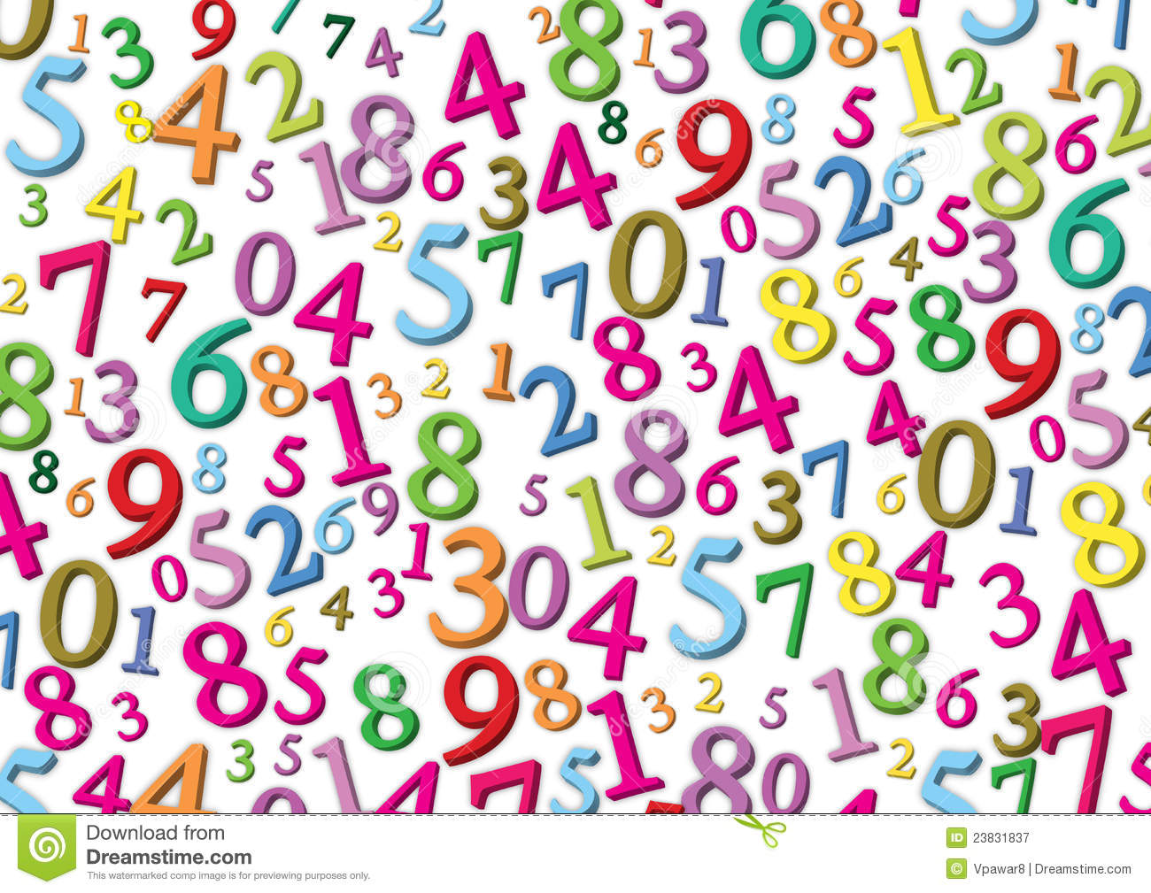 Numbers background. Numbers background. download clipart
