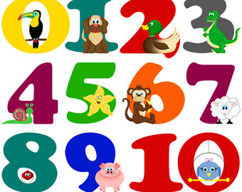 Numbers Clip Art 1 10