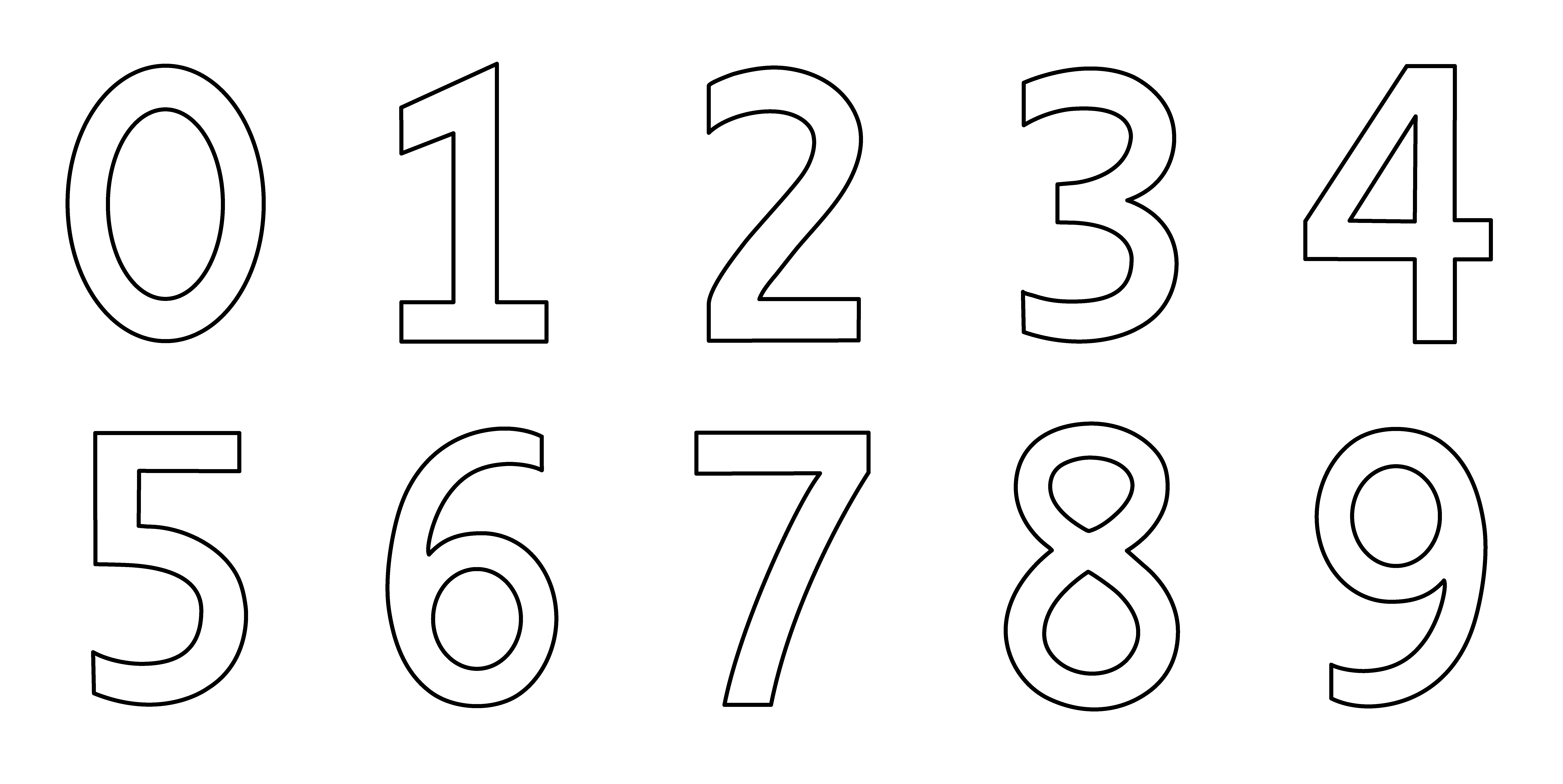 Numbers Clip Art Coloring Page