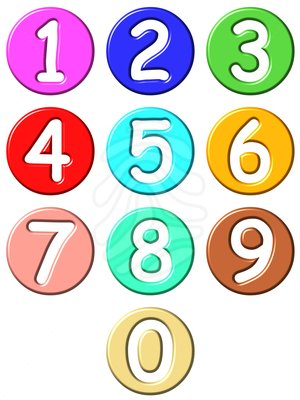 Numbers clip art .