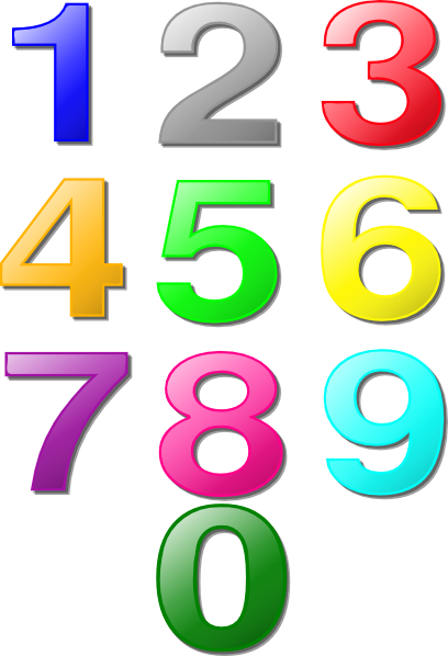 Numbers Clip Art Numbers Clipart 1 Png