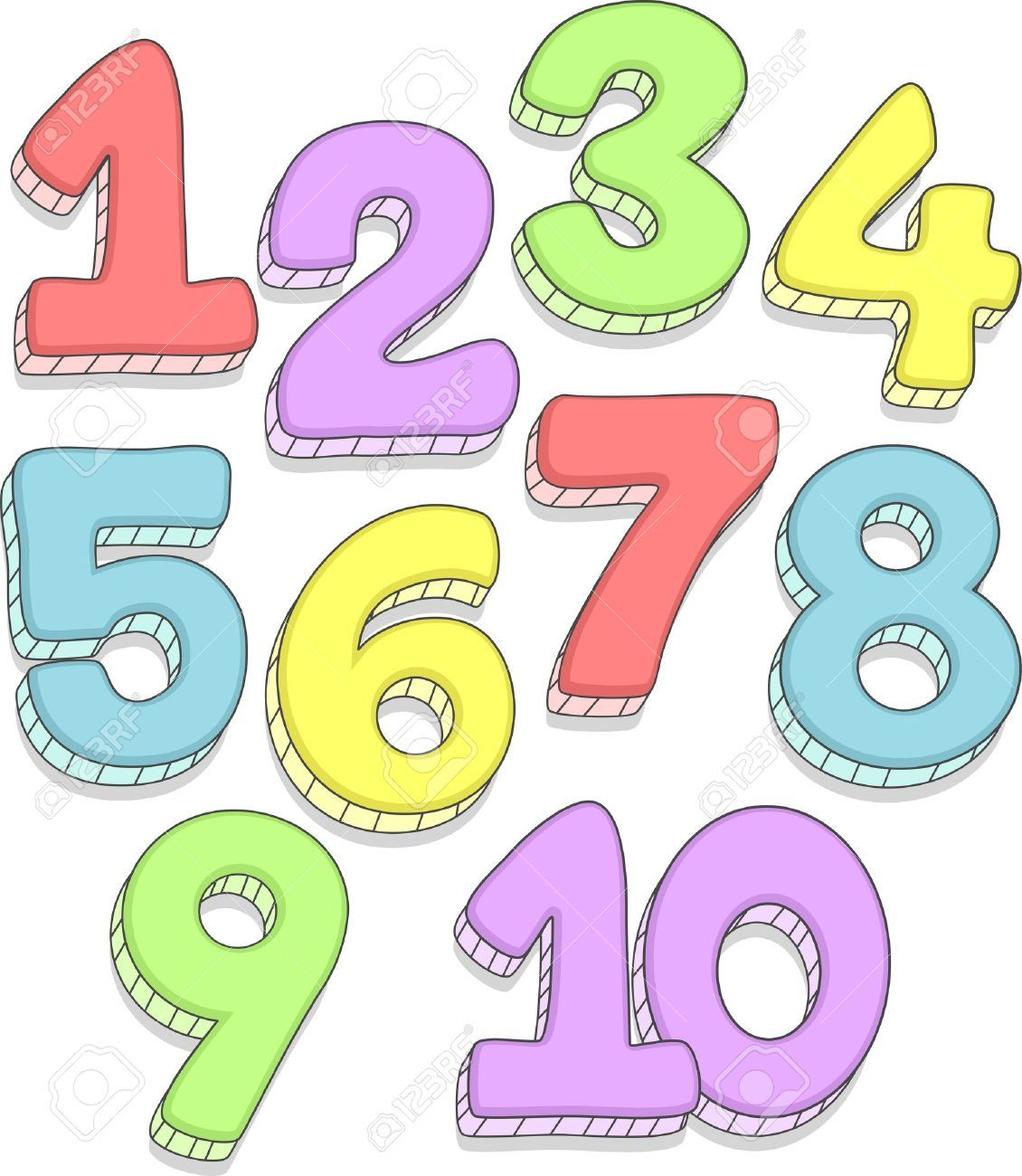 Clip art numbers 1 clipart cl