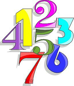 clipart numbers - Numbers Clipart
