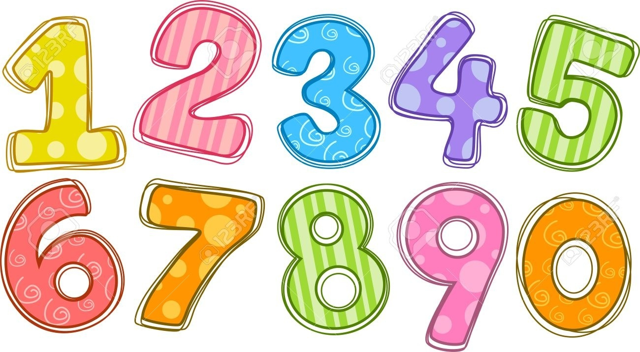 clipart numbers free modern c - Numbers Clipart