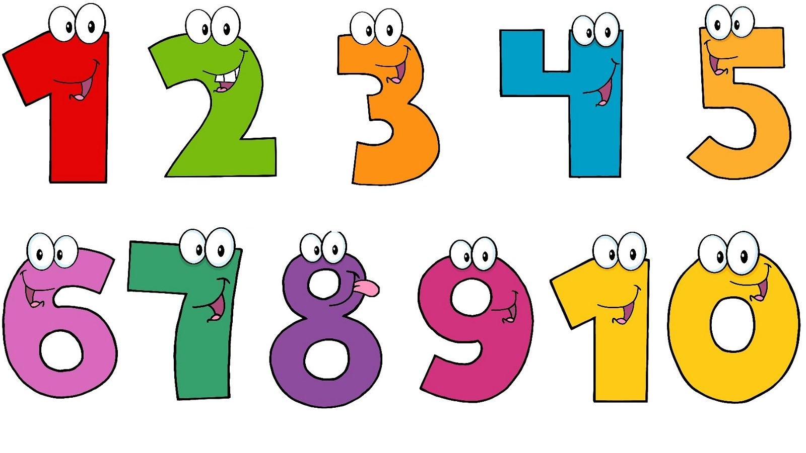 Clipart Of Numbers 1 10 Hd Le - Numbers Clipart