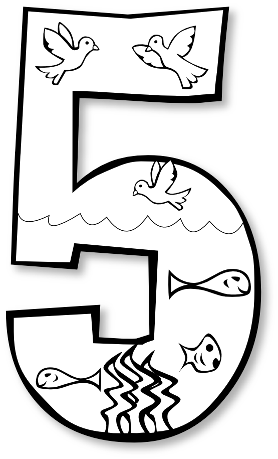 Numbers Clipart For Kids Blac - Number Clipart Black And White